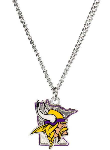 Vikings State Outline Necklace
