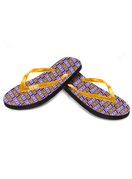 Vikings Ladies Flip Flops