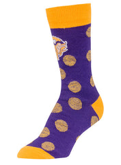 '47 Brand Ladies Vikings Polka Flat Knit Crew Socks