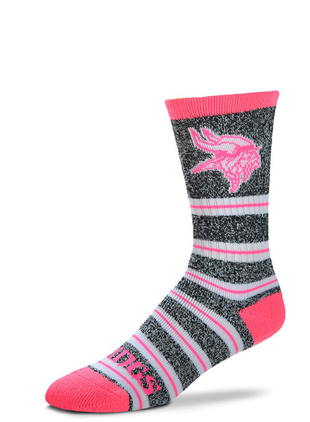 Vikings Ladies Melange Stripe Socks