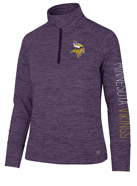 Ladies '47 Brand Vikings 1/4 Zip Impact Jacket
