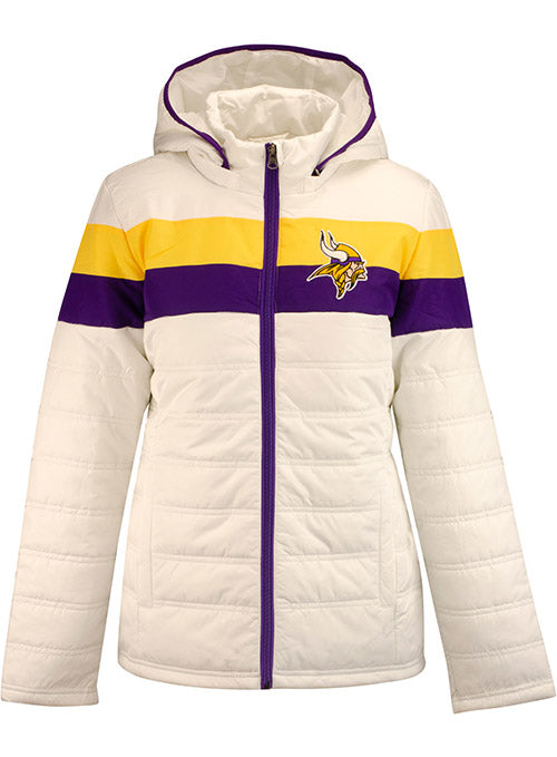 Ladies GIII Vikings Tiebreaker Full Zip Jacket