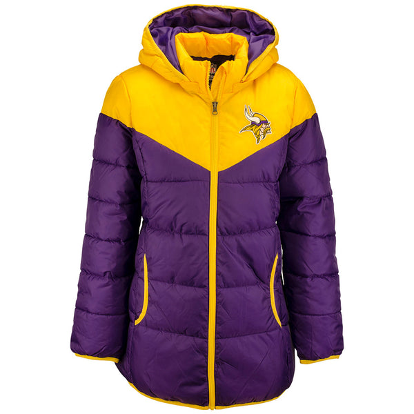 Ladies GIII Vikings Full-Zip Playmaker Parka