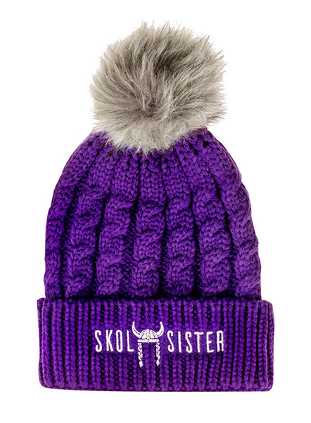 Vikings SKOL Sister Knit Hat