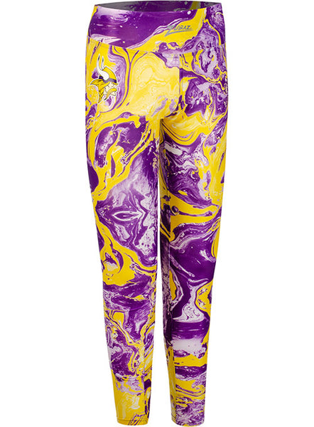 Ladies Zubaz Vikings Swirl Leggings