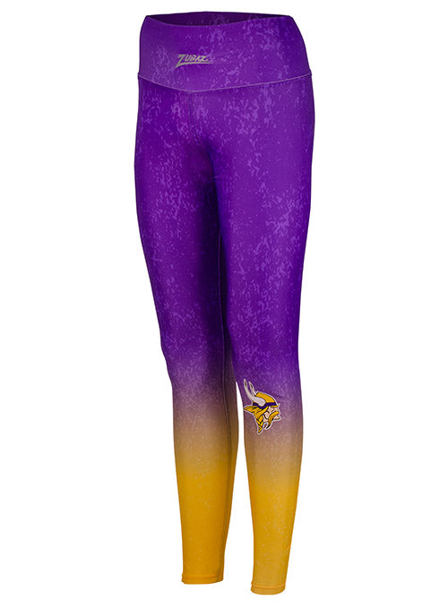 Ladies Zubaz Vikings Gradient Leggings