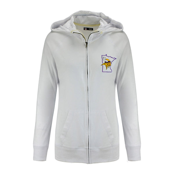 Ladies 5th & Ocean Vikings Full Zip Hooded Sweatshirt