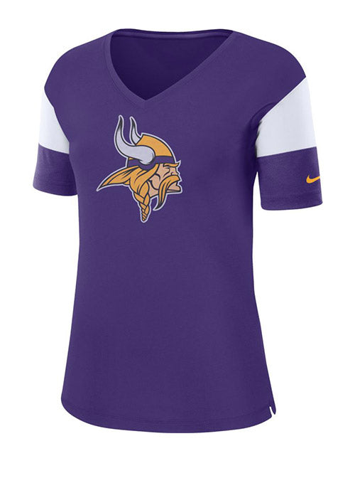 Nike Vikings Breathe Top V-Neck T-Shirt