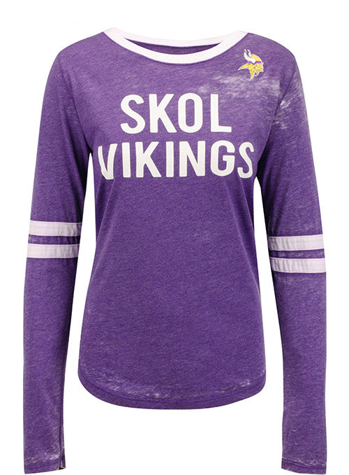 Ladies 5th & Ocean Vikings Skol Long Sleeve T-Shirt