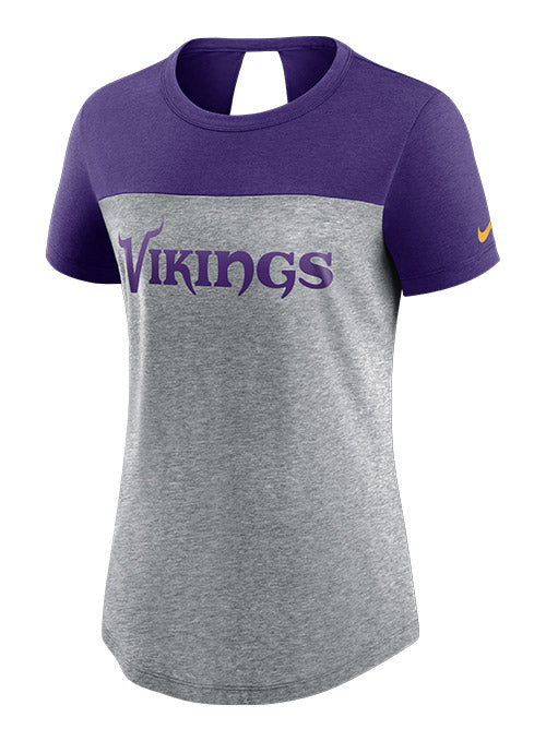 Ladies Nike Vikings Fashion Keyhole T-Shirt