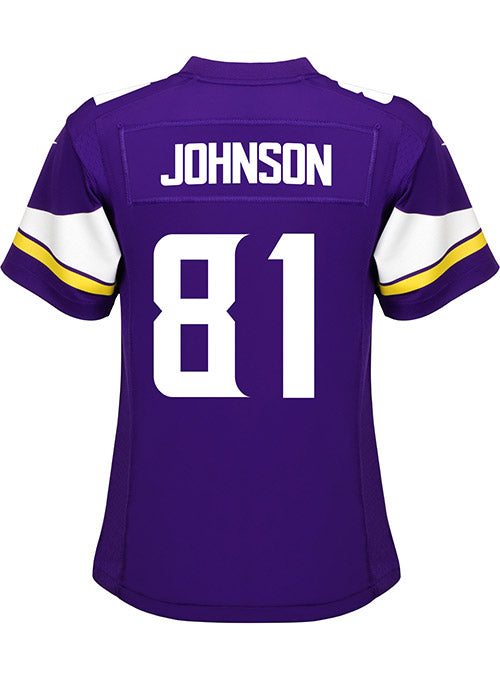Ladies Minnesota Vikings Olabisi Johnson Nike Purple Game Jersey