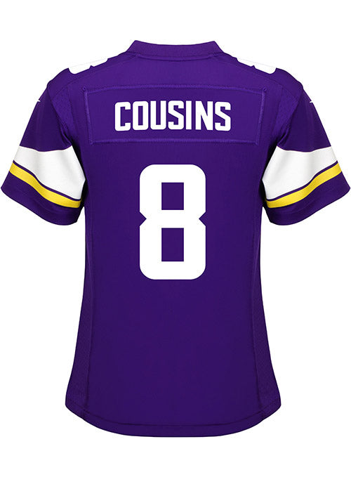 official photos aed2b 48965 Ladies Minnesota Vikings Kirk Cousins Nike Purple Game Jersey | Women's  Vikings Jerseys | Vikings Locker Room