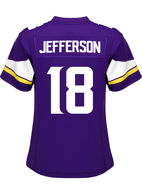 Ladies Minnesota Vikings Justin Jefferson Nike Purple Game Jersey