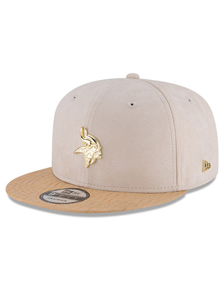 New Era Vikings Gold Badge 9FIFTY Snapback Hat  6223e4c0f52