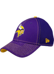 Men's Minnesota Vikings New Era Purple Shadow Burst Neo 39THIRTY Flex Hat