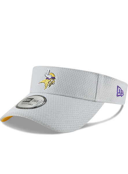 Men's Grey Minnesota Vikings New Era  2018 Official Training Camp Visor