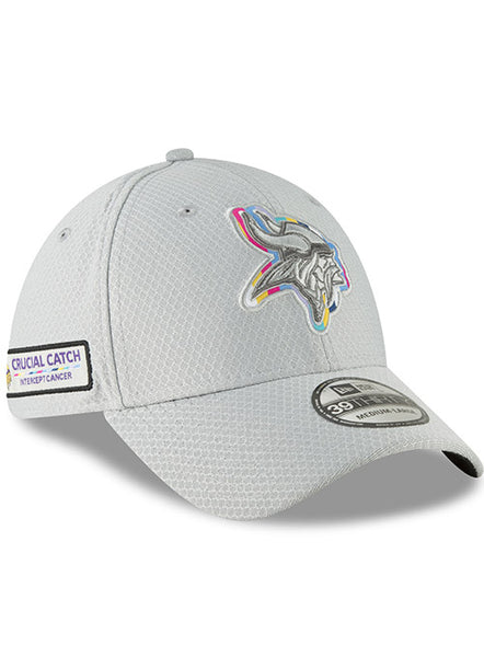 New Era Vikings Men's 2018 Crucial Catch Sideline Flex Hat