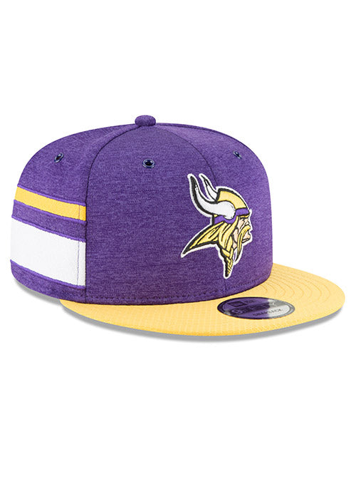 official photos 00a45 8a385 Men s Minnesota Vikings New Era Purple   Gold 2018 NFL Sideline Home Official  9FIFTY Snapback Hat