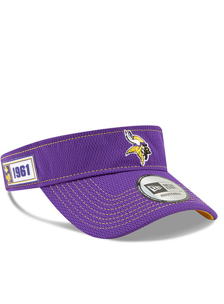Men's Minnesota Vikings New Era 2019 Official Sideline Visor