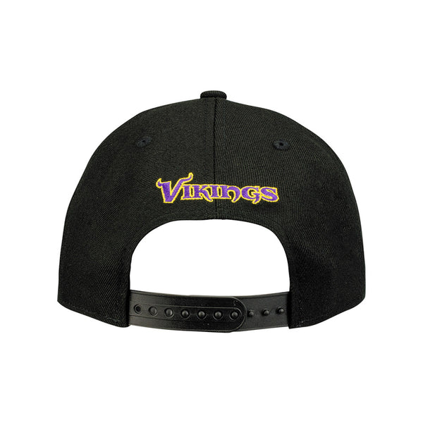 Vikings New Era State Outline Black 9FIFTY Snapback Hat