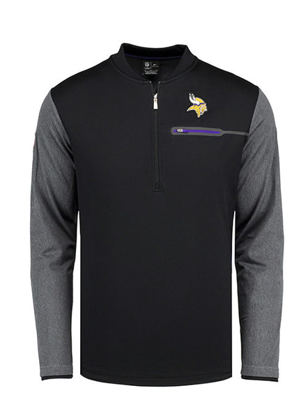 Nike Vikings Sideline 1/2 Zip Coach Jacket