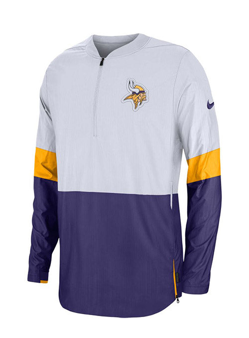 Nike Vikings Sideline Lightweight Coaches 1/2 Zip Jacket