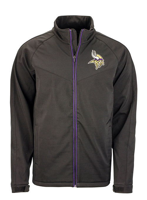 GIII Vikings Warning Softshell Full Zip Jacket