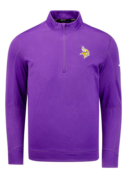 Nike Vikings Golf Therma Team Logo 1/2 Zip Jacket