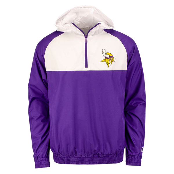 New Era Vikings Quarter-Zip Hooded Jacket