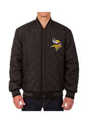 Vikings Reversible Wool & Leather Jacket
