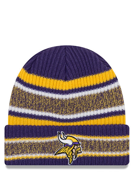 New Era Vikings Men s Vintage Stripe Knit Hat  c694c415ad8
