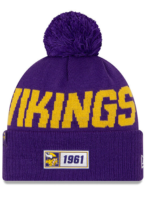 New Era Vikings 2019 Sideline Road Knit