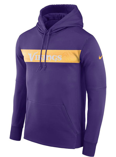 Nike Vikings  Sideline Therma Hooded Sweatshirt