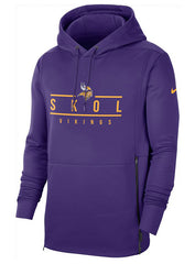 Nike Vikings Therma Local Hooded Sweatshirt