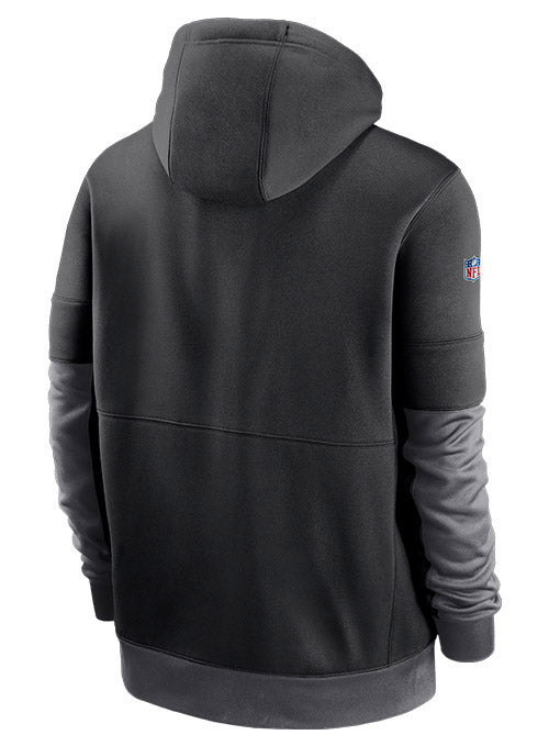 Nike Vikings Sideline Impact Lockup Performance Full Zip Hooded Sweatshirt