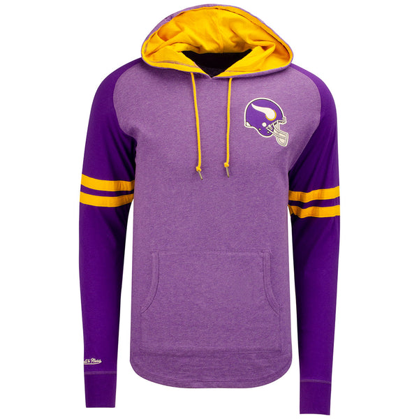 Mitchell & Ness Heathered Vikings Lightweight Pullover Hooded Sweatshirt