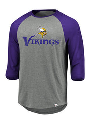 Men's Vikings Tough Hit 3/4 Sleeve T-Shirt