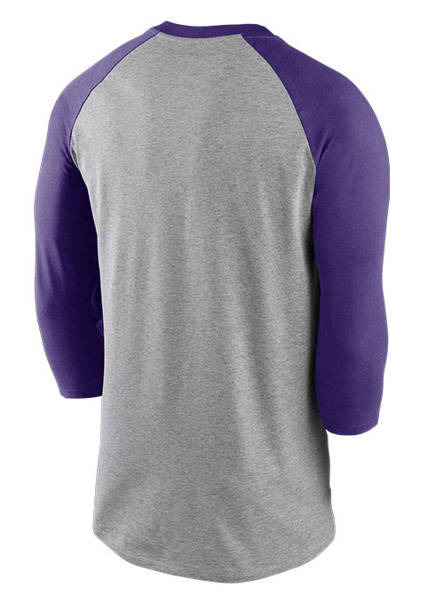 Nike Vikings Wordmark 3/4 Sleeve Raglan T-Shirt