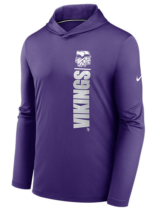 Nike Vikings Team Name Stack Long Sleeve Hooded T-Shirt