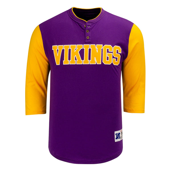 Mitchell & Ness Vikings Franchise 3/4 Sleeve Henley T-Shirt