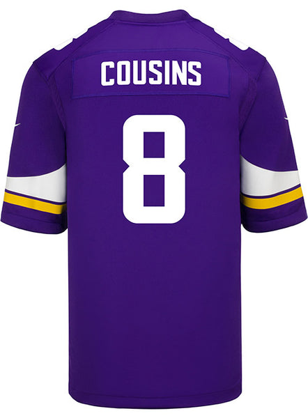 066b90ccf Men s Minnesota Vikings Kirk Cousins Nike Purple Game Jersey ...