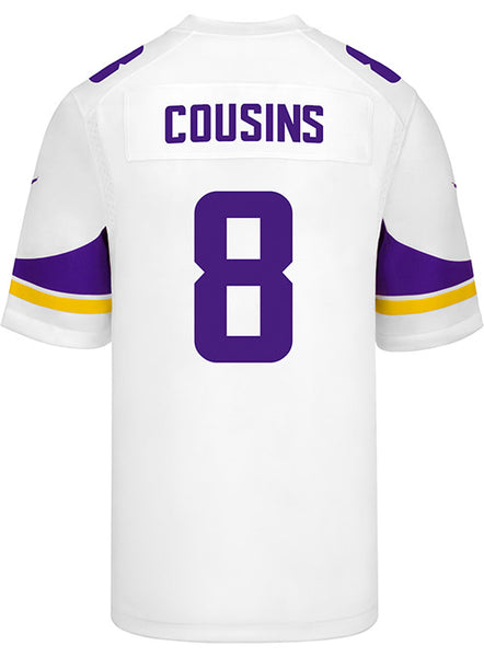 b142e881 Men's Minnesota Vikings Kirk Cousins Nike White Game Jersey | Vikings  Locker Room