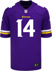 Men's Minnesota Vikings Stefon Diggs Nike Purple Game Jersey