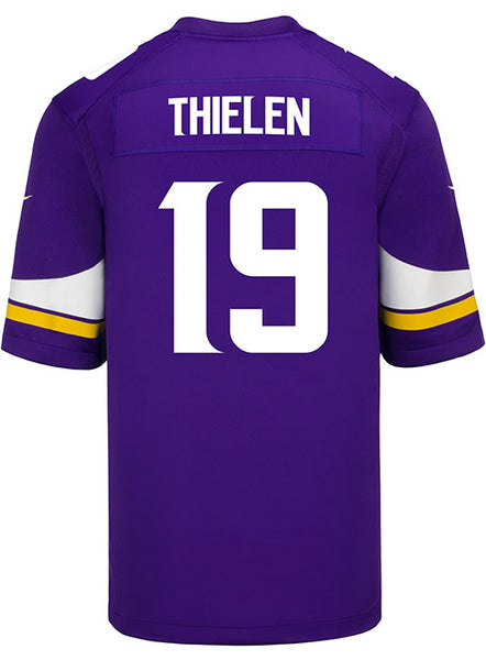 best sneakers c40ba fbe11 Men's Minnesota Vikings Adam Thielen Nike Purple Game Jersey | Men's  Vikings Jerseys | Vikings Locker Room