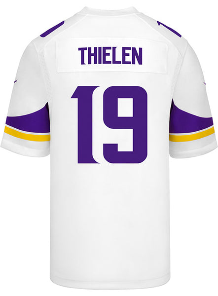 29a8985a2 Men s Minnesota Vikings Adam Thielen Nike White Game Jersey ...