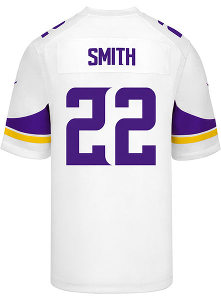 8cfb17cc7 Men s Minnesota Vikings Harrison Smith Nike White Game Jersey ...