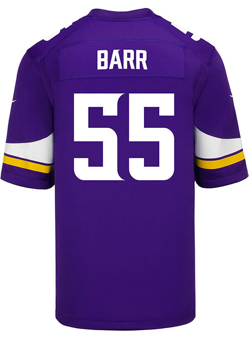 Men's Minnesota Vikings Anthony Barr Nike Purple Game Jersey