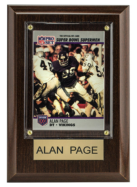 Vikings Alan Page 4'' x 6'' Plaque