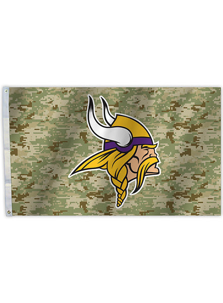 3' X 5' Vikings Digi Camo Team Logo Flag
