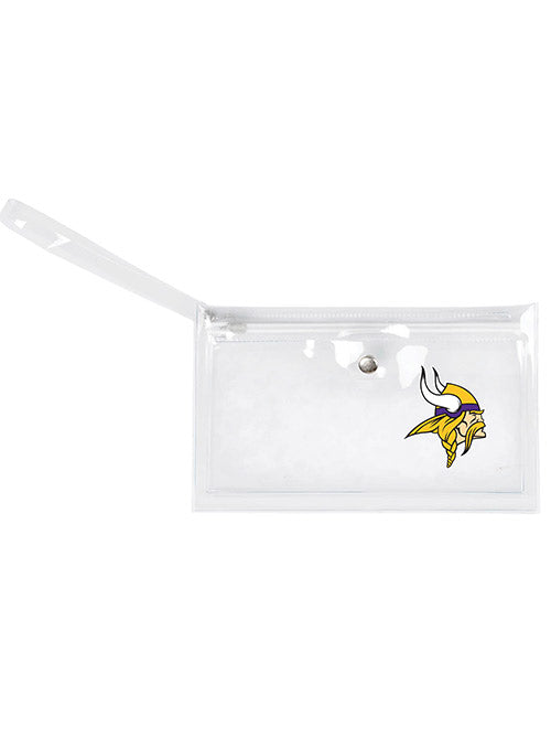 Vikings Clear Wristlet